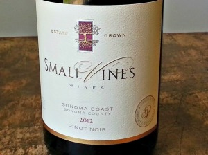 Small Vines Wines 2012 Sonoma Coast Pinot Noir